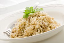 Free Risotto With Italian Meet Stock Image - 20258171