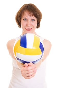 Free Volleyball Girl Royalty Free Stock Image - 20258466