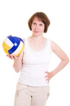 Free Volleyball Girl Royalty Free Stock Photography - 20258477