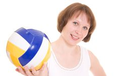 Free Volleyball Girl Royalty Free Stock Photo - 20258505
