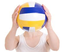 Free Volleyball Girl Royalty Free Stock Images - 20258549