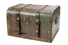 Free Old Wooden Chest With Lock Stock Photo - 20258720