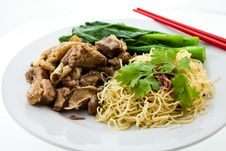 Free Beef Egg Noodle Royalty Free Stock Images - 20258769