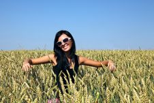 Free Wheat Field And Girl Stock Photos - 20258963
