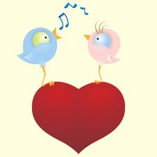 Free Two Loving Birds Royalty Free Stock Images - 20259199