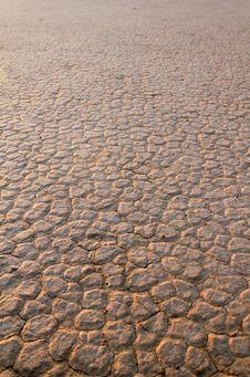 Wadi Rum Desert Dry Soil Detail. Stock Image