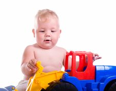Free Little Boy  With A Big Car Royalty Free Stock Photos - 20259428
