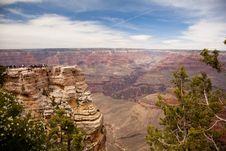Grand Canyon Overlook Royalty Free Stock Photos