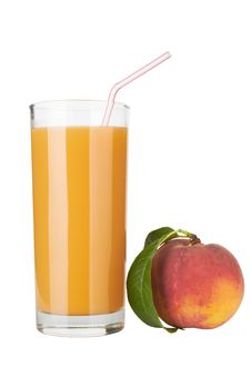 Free Fresh Peach Juce In Glass Royalty Free Stock Photo - 20259735