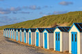 Free A Row Of Cabins On The Beach Royalty Free Stock Photos - 20260988