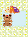 Free Bear With Umbrella. Royalty Free Stock Image - 20261026