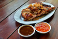 Free Grilled Chicken With Spicy Sauce Stock Photo - 20261830