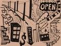 Free City Doodles - XXXL Royalty Free Stock Photography - 20264317
