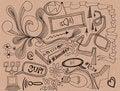 Free Random Doodles Royalty Free Stock Photos - 20264318