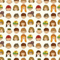 Free Seamless Young People Face Pattern Royalty Free Stock Photo - 20264685