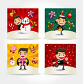 Free Cute Christmas Card Stock Images - 20264694