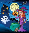 Free Scene With Halloween Mansion 8 Stock Images - 20265904