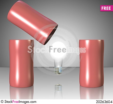 Free Bulb Under Cups Stock Images - 20263604