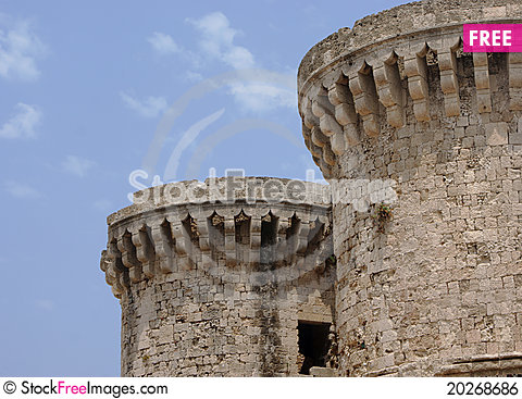 Free Citadel Of Rhodes, City Of Rhodes Royalty Free Stock Image - 20268686