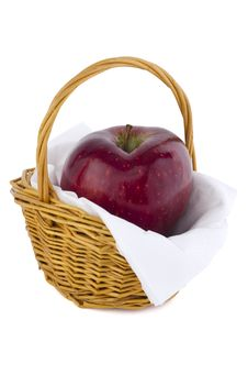 Free Apple In Basket Stock Image - 20260131