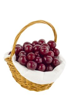 Free Cherrys In Basket Stock Photo - 20260160
