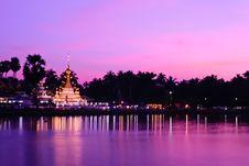 Wat Thai At Sunset Stock Photos