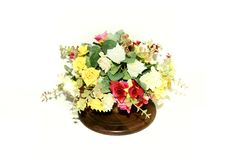 Free Artificial Flowers In A Pot Royalty Free Stock Image - 20260306