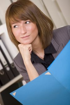Free Woman With Document File Royalty Free Stock Photography - 20260487