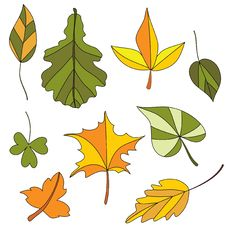 Free Autumn Leaf. Set Stock Image - 20260491