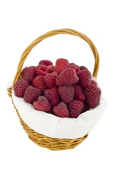 Raspberries In Basket Royalty Free Stock Photo