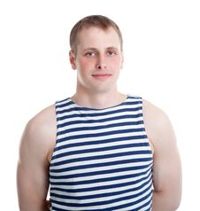 Free The Sailor In A Striped Shirt Stock Photo - 20260680
