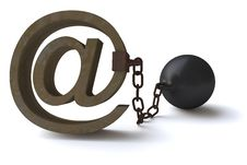 Free Censoring The E-mails Royalty Free Stock Photography - 20260737