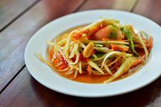 Free Thai Papaya Salad Stock Image - 20261861