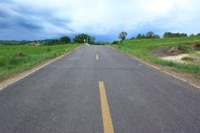 Free Landscape  Of  Road In The Grassland Royalty Free Stock Image - 20262536