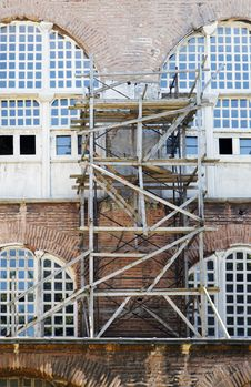 Free Wooden Scaffolding Istanbul Turkey Royalty Free Stock Photos - 20263138