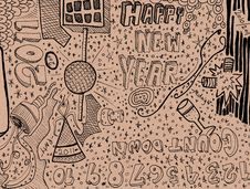 Free Happy New Year Doodle Stock Photography - 20264322
