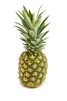 Free Pineapple Isolated On White Royalty Free Stock Image - 20264866