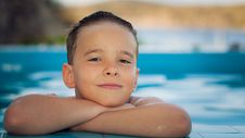 Free Boy At The Pool Stock Photos - 20265073