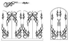 Free Ornamental-fence-set Stock Images - 20265634