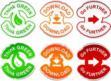 Free Set Of Color Labels. Stock Photo - 20267230