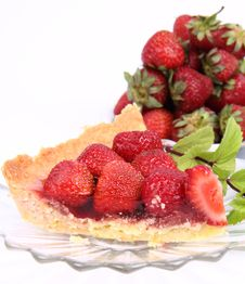 Free Strawberry Tart Royalty Free Stock Photography - 20267357