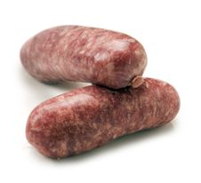 Free Two Sausages On White Royalty Free Stock Images - 20267649