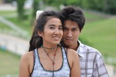 Free Lover Asia Travel Thailand Park Garden Royalty Free Stock Photography - 20268037