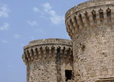 Citadel Of Rhodes, City Of Rhodes Royalty Free Stock Image