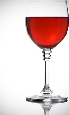Glass Of Red Wine On White Royalty Free Stock Images