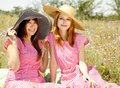 Free Two Girls At Contryside. Royalty Free Stock Images - 20276199