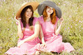Free Two Girls At Contryside. Stock Image - 20276231