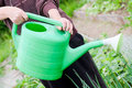 Free The Elderly Woman Works On Garden Royalty Free Stock Image - 20278906