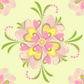 Free Flower Vector Heart Stripe Seamless Pattern Royalty Free Stock Image - 20279606