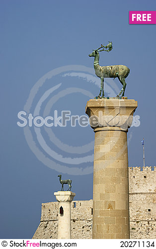 Free Monument In Port,City Of Rhodes Stock Images - 20271134